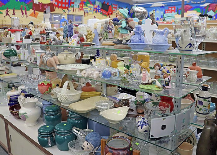 Island Thrift has knickknacks trinkets and ornaments to explore. You're bound to find a treasure!